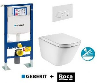 Pack Geberit UP320 111333005 autoportant + Cuvette GAP sans bride + plaque Sigma20